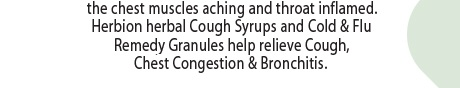 Herbion Naturals Cough Syrups & Granules help relieve Cough, Chest Congestion & Bronchitis