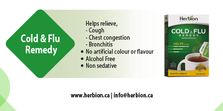 Herbion Cold & Flu Remedy hot drink helps relieve cough, chest congestion & bronchitis.