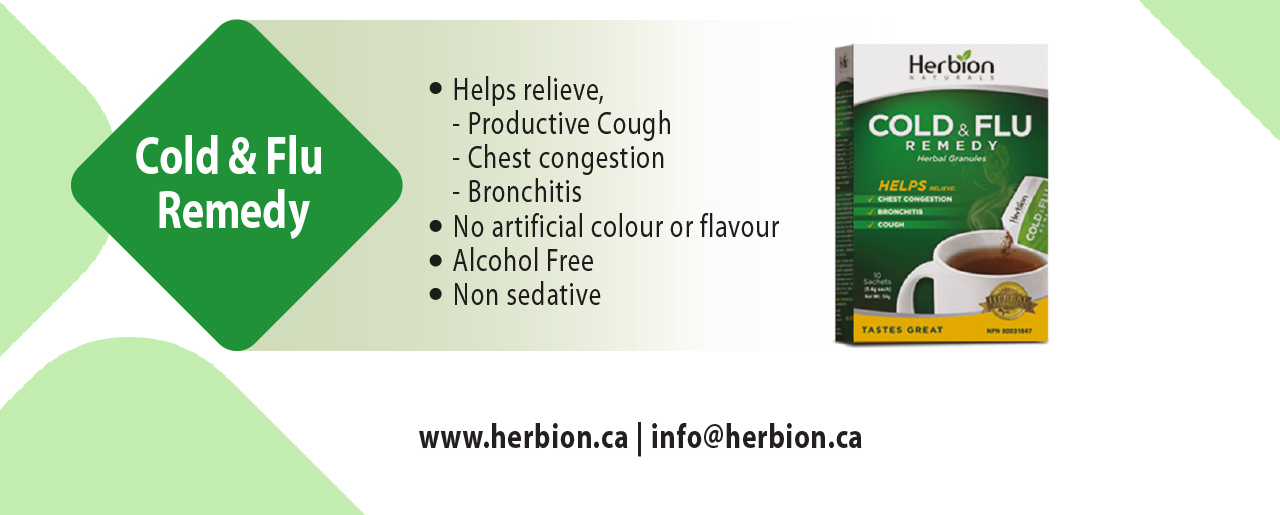 Herbion Cold & Flu Remedy helps relieve productive cough, chest congestion & bronchitis.