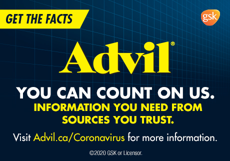 Advil. Get the facts. You can count on us. Information you need from sources you trust. Visit Advil.ca/coronavirus for more information.