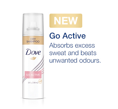 Go Active • Absorbs excess sweat and beats unwanted odours.