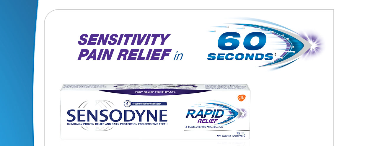 Sensitivity Pain Relief in 60 seconds§.