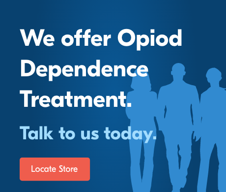 We offer Opiod Dependence Treatment. Locate Store