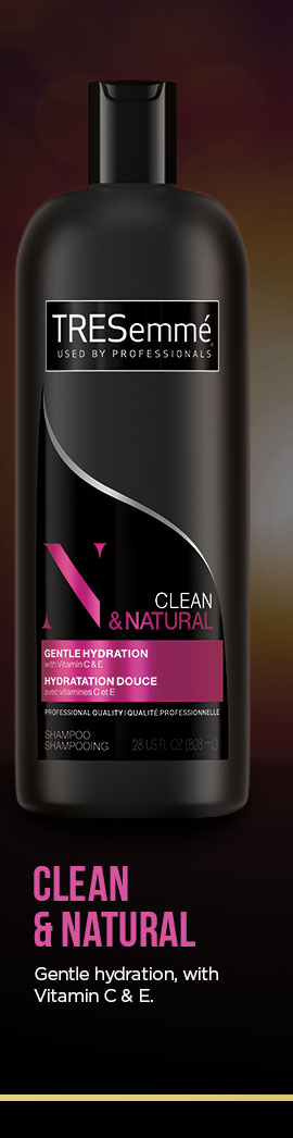 CLEAN & NATURAL. Gentle hydration with Vitamin C & E.