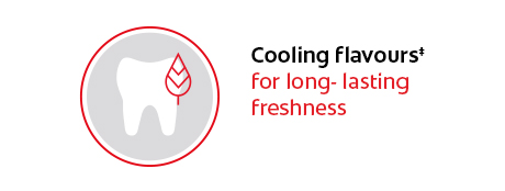 New cooling flavours‡ for long-lasting freshness