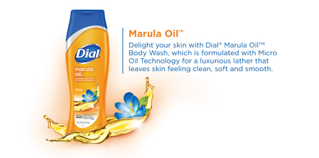 Marula Oil: Delight your skin with Dial Marula Oil Body Wash, which is formulated with Micro Oil Technology for a luxurious lather that leaves skin feeling clean, soft and smooth.