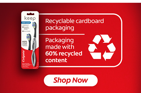 Recyclable cardboard packaging. Packaging made with 60% recycled content.