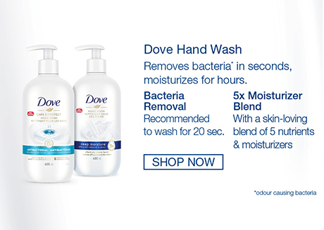 5x Moisturizer Blend with a skin-loving blend of 5 nutrients & moisturizers. Dove Antiperspirant Deodorants *with 48-hour protection,