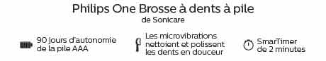 Philips One Brosse à dents à pile de Sonicare