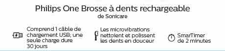 Philips One Brosse à dents rechargeable de Sonicare