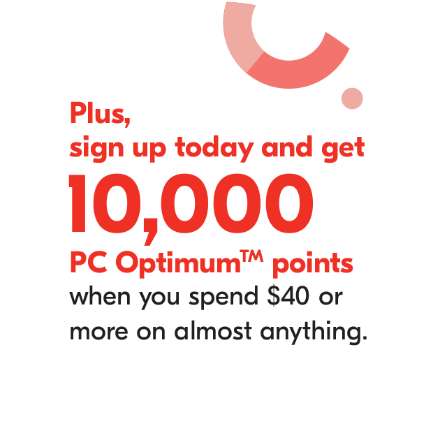 Plus, get 10,000 PC Optimum points when you sign up for Shoppers Drug Mart Emails and spend $40 or more on almost anything.