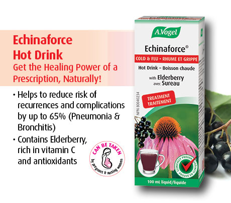 Echinaforce Extra Hot Drink reduces risk of reoccurances and complications by up to 65%.