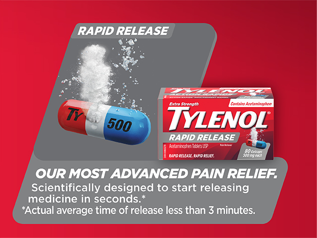 STARTS TO WORK IN 15 to 20 MINUTES with 2 caplets. CLINICALLY PROVEN FAST PAIN RELIEF of your worst headaches, aches, pain, and fever.