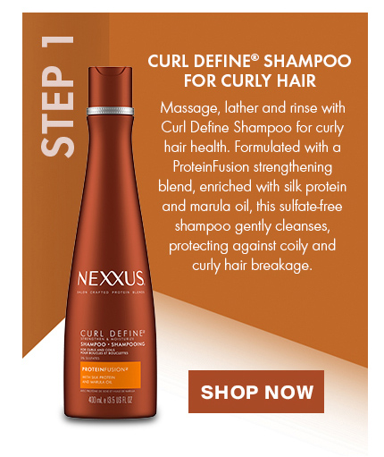 CURL DEFINE® SHAMPOO. STEP 1: Massage, lather and rinse with Curl Define Shampoo for curly hair health. Shop Now.