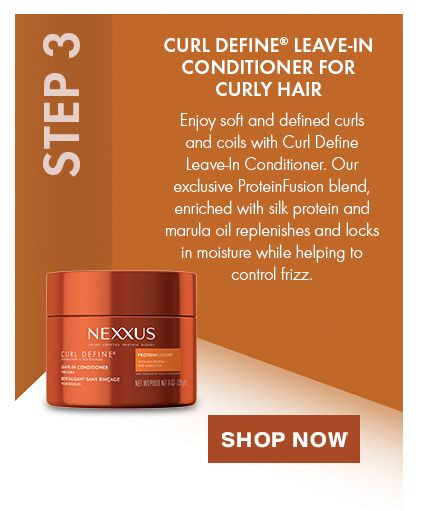 CURL DEFINE® LEAVE-IN CONDITIONER. STEP 3: Enjoy soft and defined curls and coils with Curl Define Leave-In Conditioner. Shop Now.