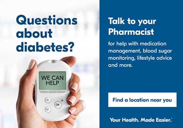 Questions about diabetes? Talk to your Pharmacist