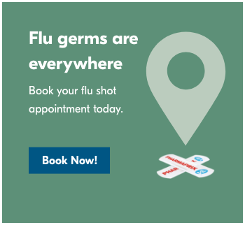 Flu shots available, book now!
