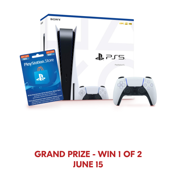 grand prize win 1 of 2 on June 15
