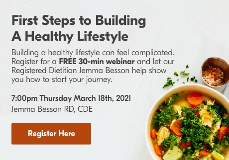 First Steps to Building A Healthy Lifestyle – Free Webinar March 18th, 2021