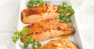 Broiled Maple Salmon Fillets