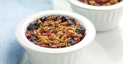 Individual Four-Berry Crumble