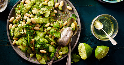 White Kidney And Lima Bean Salad