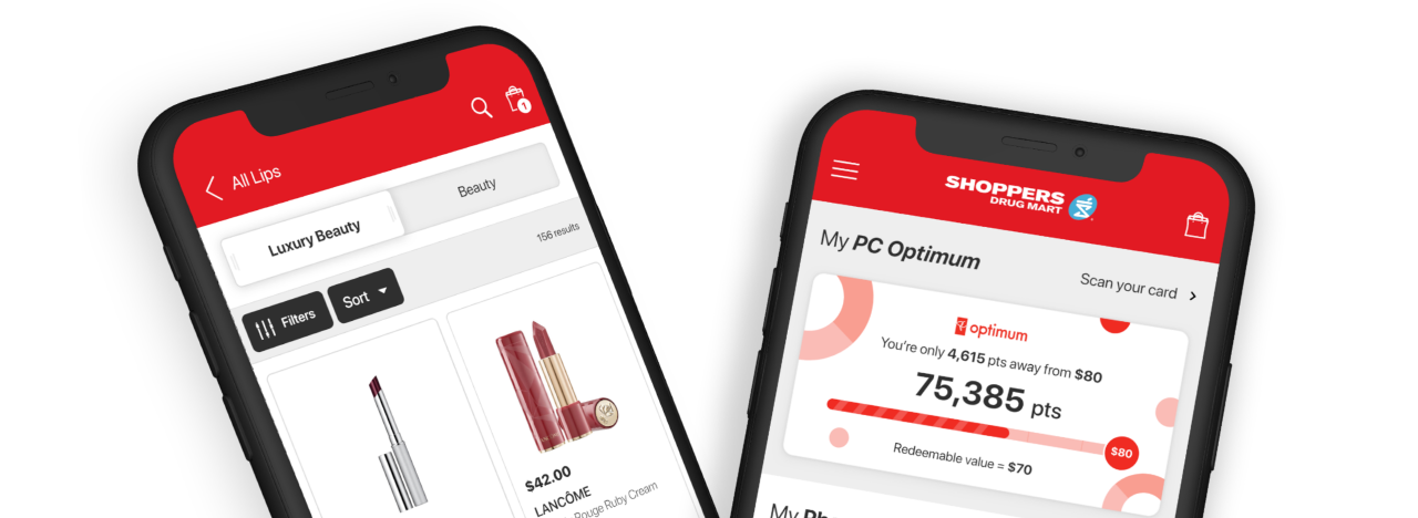 The Shoppers Drug Mart App® displayed on a phone